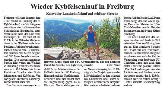 Vorbericht 2.Kybfelsenlauf 2019